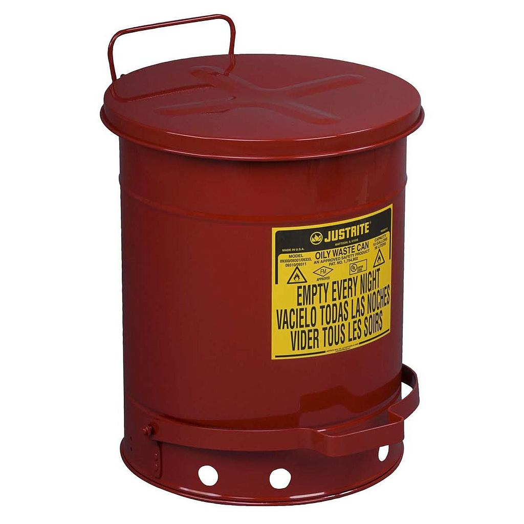 Justrite Oil Waste Cans